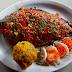 Gastronomía Amazónica: Palometa con chimichurri amaz con tacacho