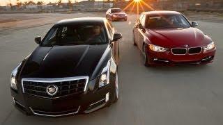 Cadillac ATS 3.6, BMW 335i, Mercedes-Benz C350, versus, video, competition, bmw, cadillac, mercedes benz