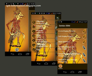 BBM Mod Series Themes Wayang Versi 2.8.0.21