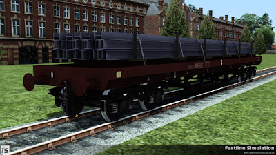 Fastline Simulation: Later build to design code BD006C BDA in clean freight brown livery and a load of H-beams.