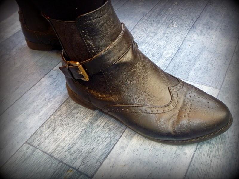 Chelsea Boot, Primark, Size 6, Brogue, Tartan