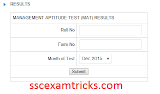 AIMA MAT Result Dec 2015