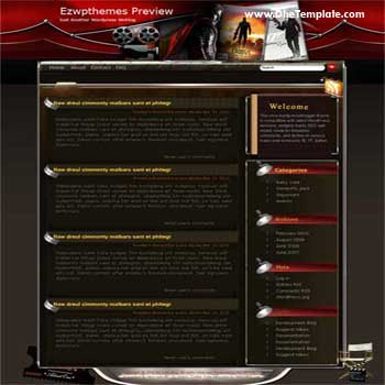 Untitled blogger template. converted WordPress to Blogger template. movie template blog