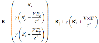 transformation equation for magnetic fields