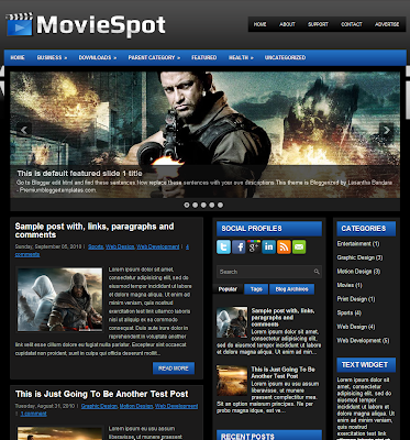 MovieSpot Blogger Template