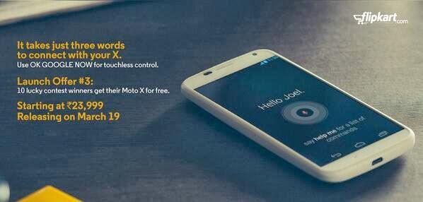 Moto X Release in Flipkart