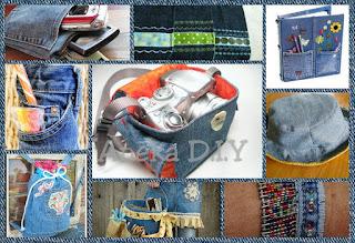 membuat kerajinan kain jeans lama