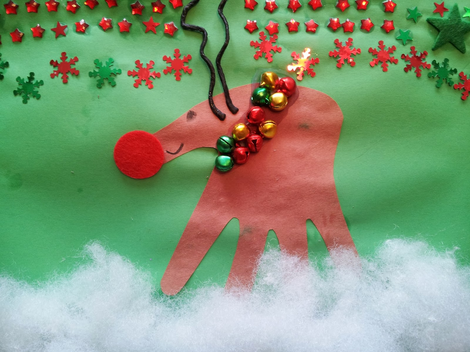 Christmas craft, crafts, kids crafts, handprint crafts