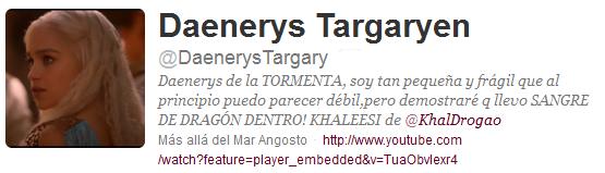 @DaenerysTargary, Daenerys Targaryen en twitter