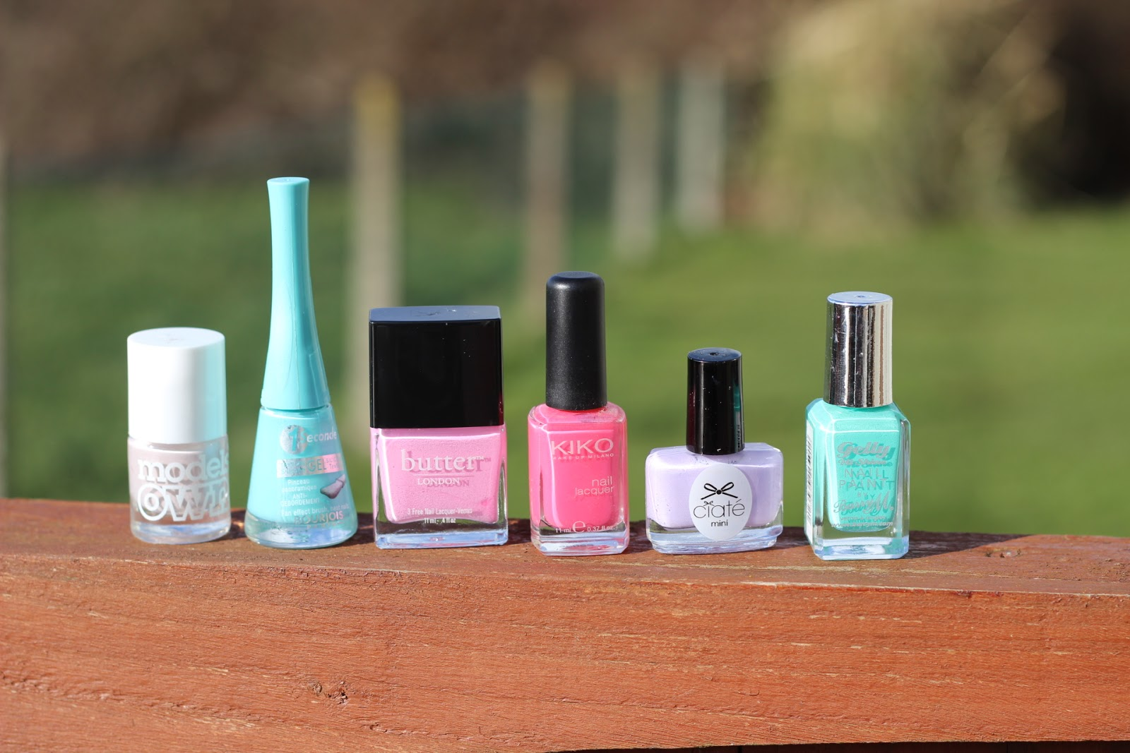 selection of spring nail polishes