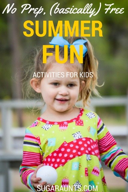 Basically free summer activities for kids and families this summer. Creative play is inspired play!