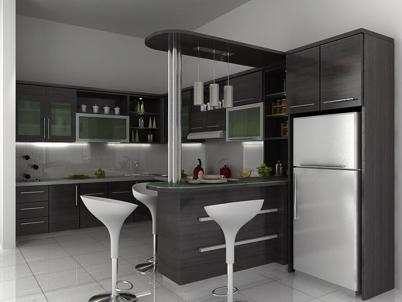 Desain kitchen set mungil gambar rumah minimalis for Gambar kitchen set minimalis
