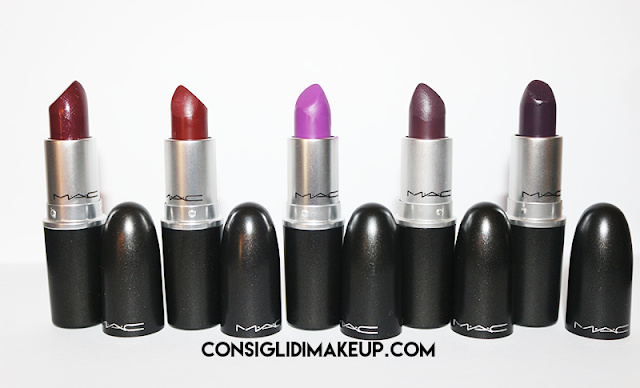 swatch dark lipstick mac