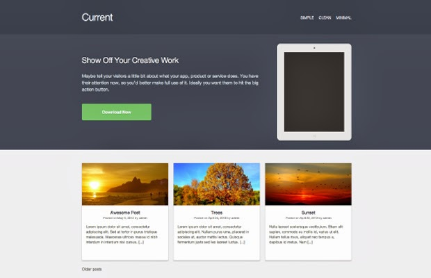 Current Flat WordPress Theme