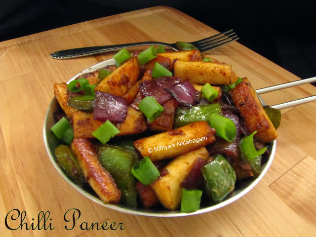 Chilli Paneer | Step by step pictures