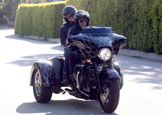 Johnny Hallyday with Harley-Davidson Trike