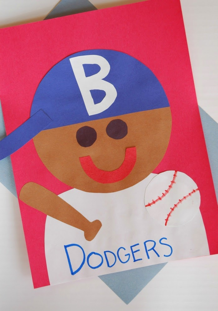 Jackie robinson craft what can we do with paper and glue for The actor s art and craft