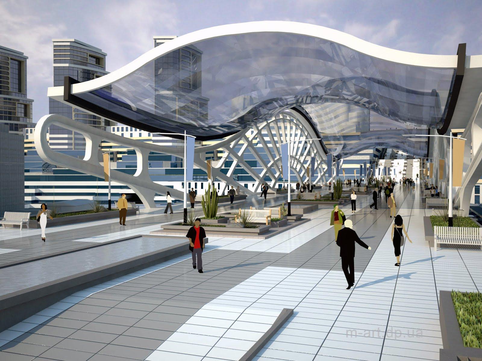 Архитектурная концепция градостроительного узла