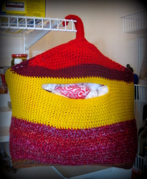 Pattern for: Plastic bag holder? - Crochetville