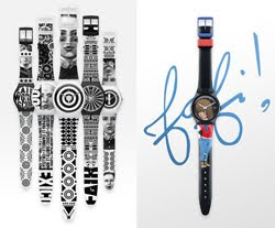 Swatch unveils new graphic design collaborations