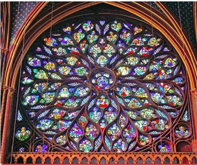 Parigi - Saint-Chapelle - Rosone raffigurante l'Apocalisse
