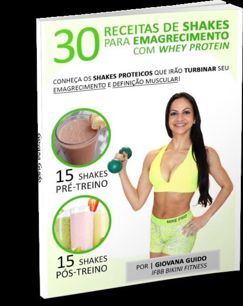 capa do livro 30 Shakes Emagrecedores Com Whey Protein