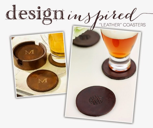 Makers + Shakers Damask Love faux leather coasters