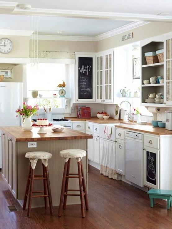 Decorar una cocina peque a ideas para decorar dise ar y - Como amueblar una cocina pequena ...