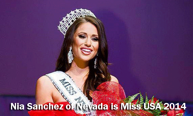 Nia Sanchez of Nevada is Miss USA 2014