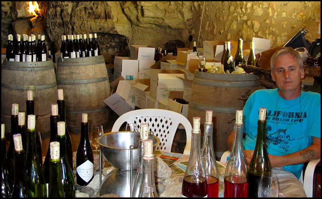 Guy Durand wine cave near Amboise in the Loire Valley, France.