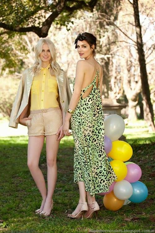Moda en vestidos de fiesta María Dah 2014 primavera verano 2014.
