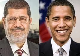 مرسي يتلقي برقية شكر من اوباما