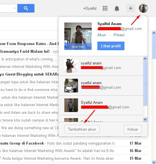 Cara Membuka Lebih Dari Satu Akun Gmail Pada Satu Browser