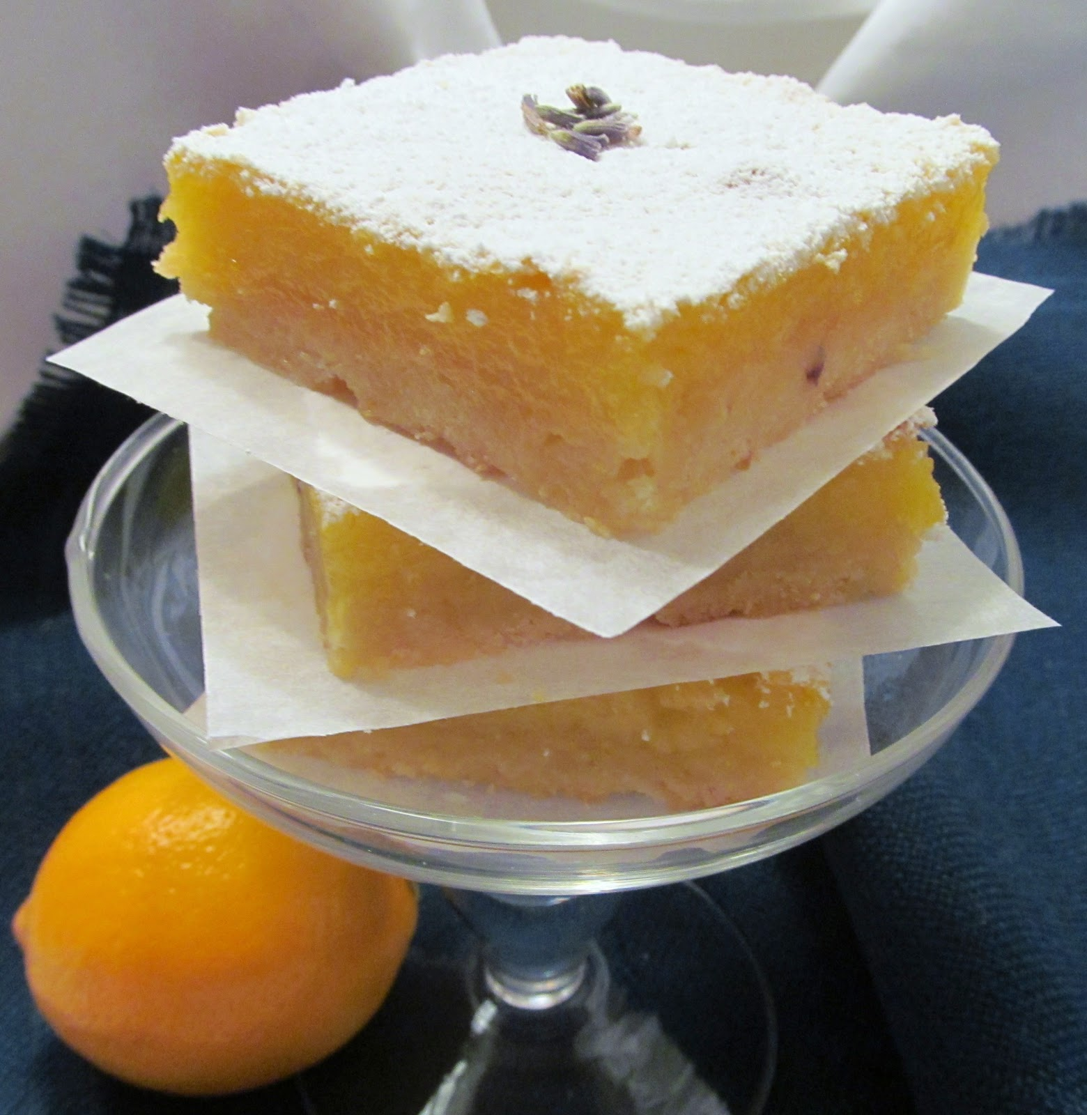 Carrington Lane Bakery: Meyer Lemon and Lavender Bars
