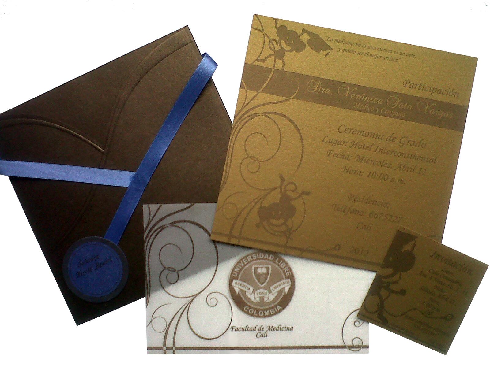 Modelos de tarjetas de participación a Grado universitario - Imagui