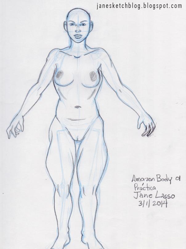Dibujo del cuerpo de amazonas