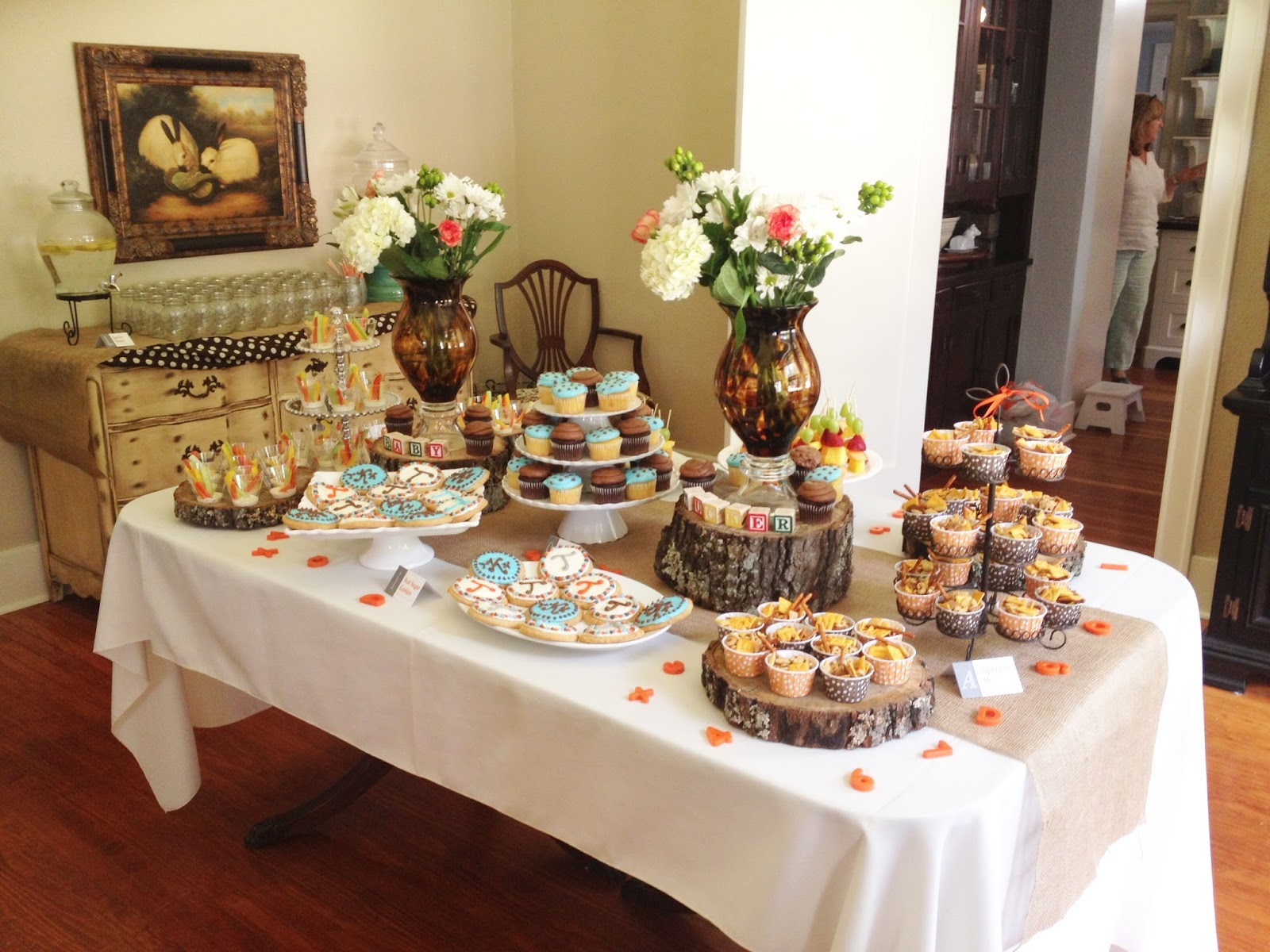 Rustic Baby Shower Food ~ A rustic baby shower for tucker in this wonderful life