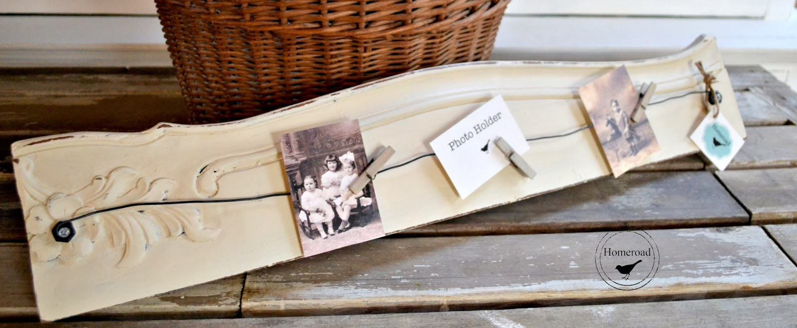 Repurposed Antique Furniture Photo Displays www.homeroad.net