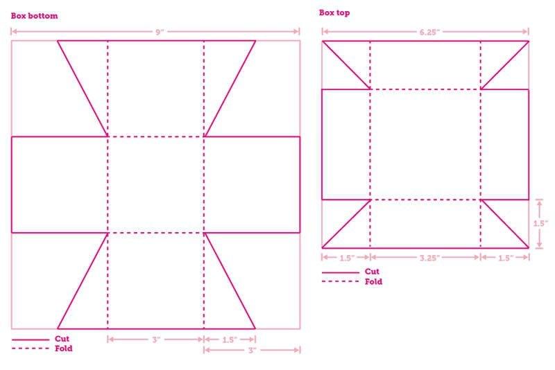 Как из картона сделать квадратную коробку
