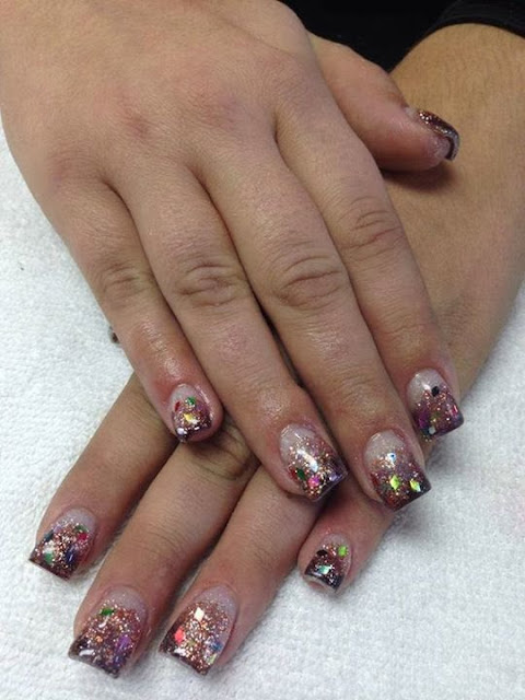 acrylic backfill with LED polish, glitz and flakes manicure-Classic-French-white-nails-acrylic-backfill-LED-polish-Pedicure-Gel-Nails-Polish-LED-Polish-LED-Nails-Manicure-Acrylic-Nails-Nail-Art