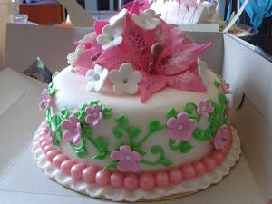 Fondant Cake n Gumpaste Flower