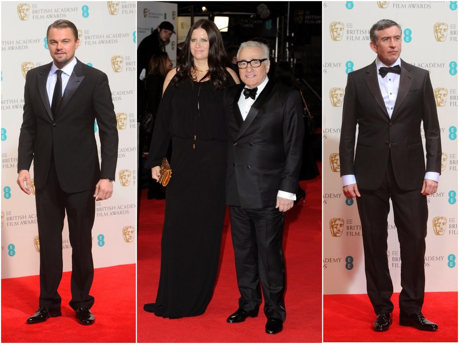 Leonardo DiCaprio, Martin Scorsese and Steve Coogan in Giorgio Armani - BAFTAs 2014