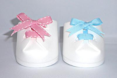 Lembrancinhas de Bebê - Maternidade sapatinho como fazer passo a passo