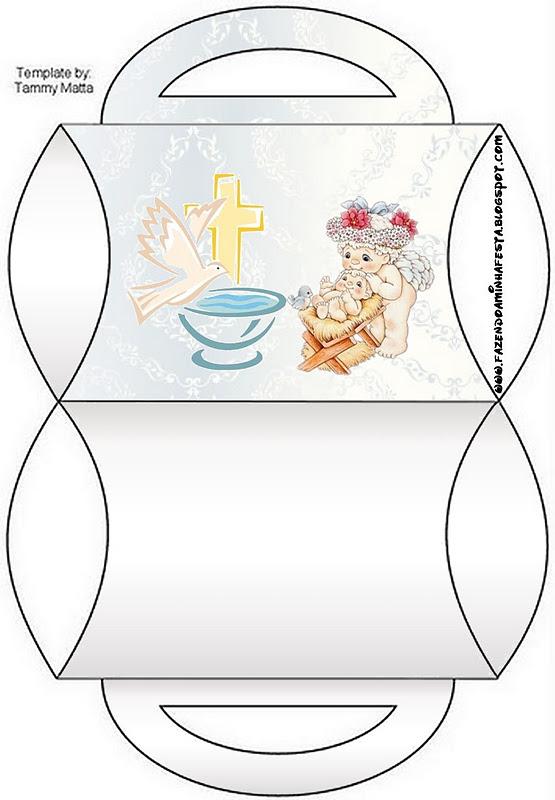 Cajitas imprimibles para bautismo. | Ideas y material gratis para