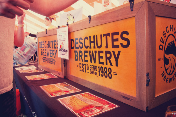 Deschutes Brewing at the 2014 East Nashville Beer festival
