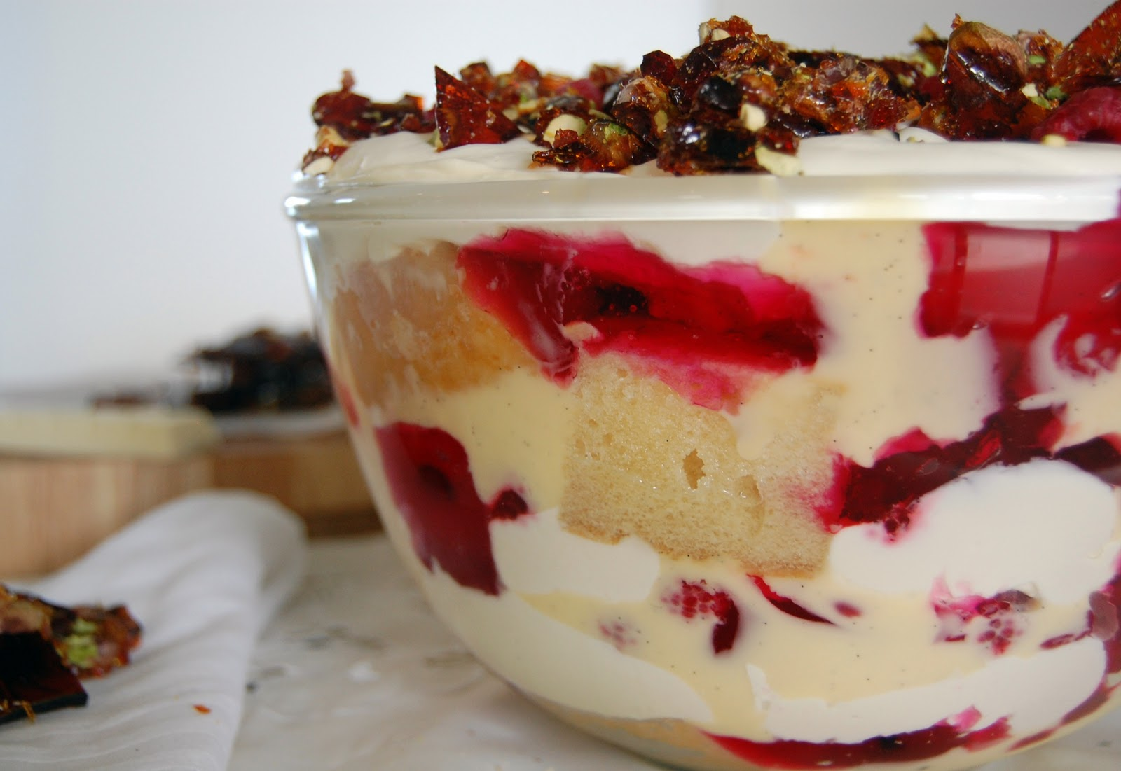 kayla marie's kitchen: Raspberry and White Chocolate Trifle with ...