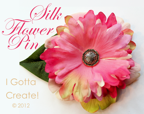 I gotta create silk flower corsage pin tutorial mix and match various flowers for texture like i did for this corsage mightylinksfo