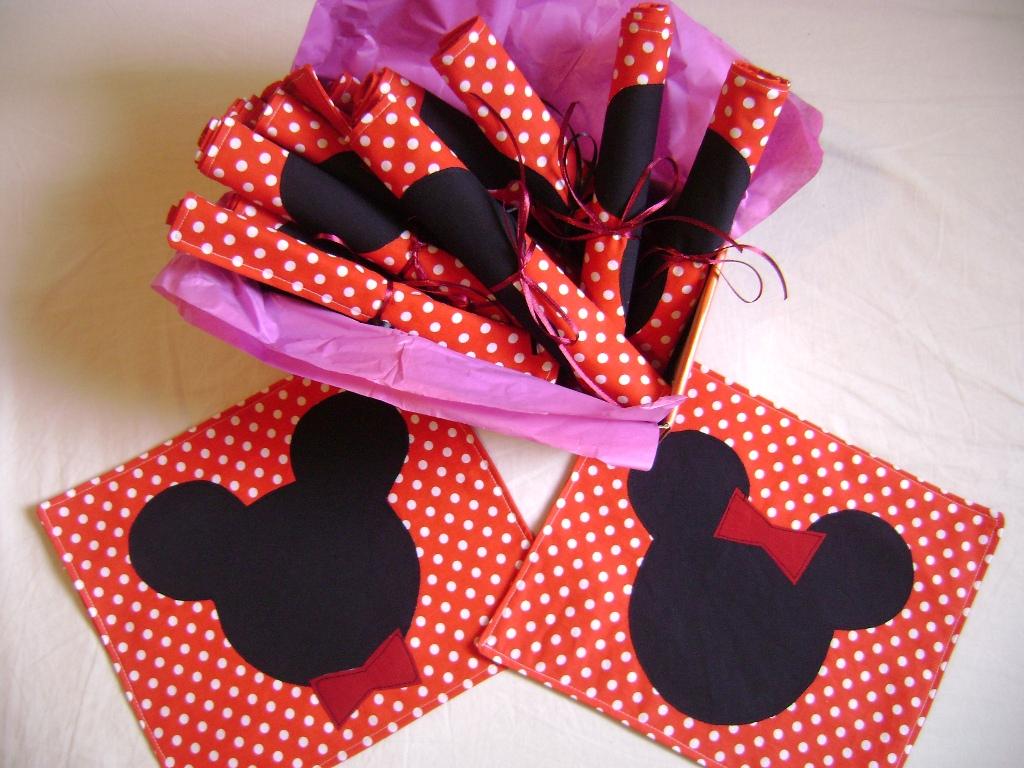 Jogo Americano Mickey E Minnie   Lembrancinha Original