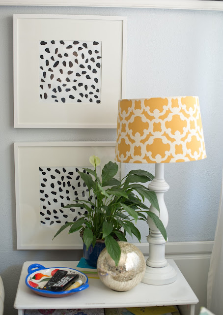 DIY spotted black and white print