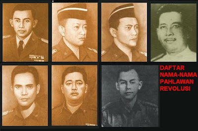 NAMA-NAMA PAHLAWAN REVOLUSI INDONESIA